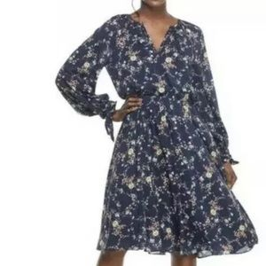 GAL MEETS GLAM Bonnie Blouson Floral Fit and Flare